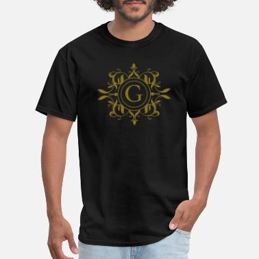 Monogram Monogram Letter G Names Emblem | Gold - Men's T-Shirt