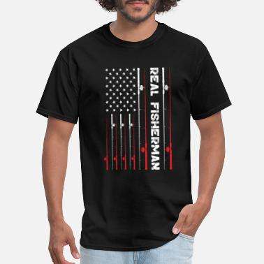 Window REAL FISHERMAN. USA FLAG T-SHIRT. - Men's T-Shirt