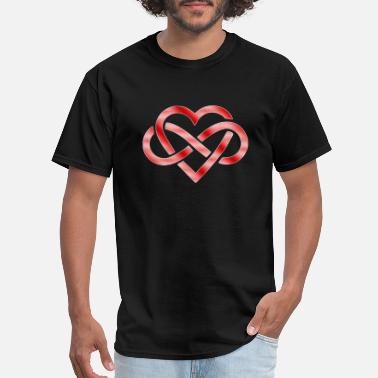 Couple Infinity light infinity heart - Men's T-Shirt