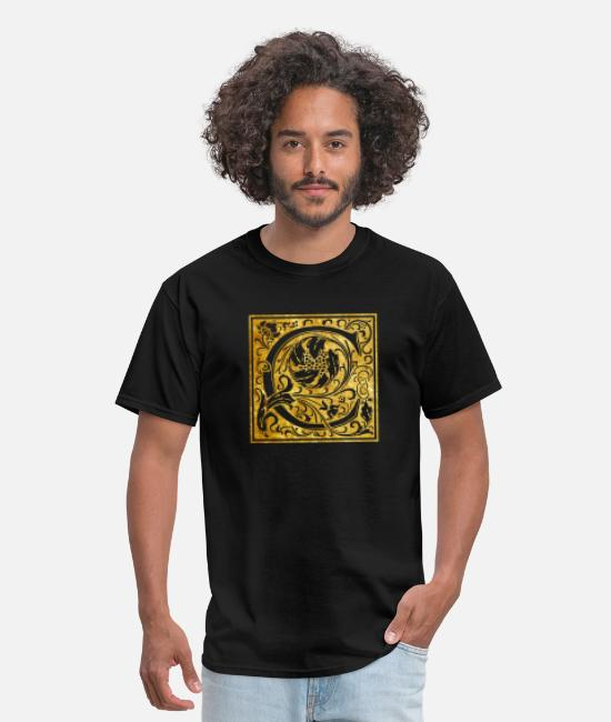 Gold T-Shirts - Initials-C - Men's T-Shirt black