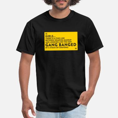 Gangbang Gangbanged By A Stack Of Crayons - Men's T-Shirt