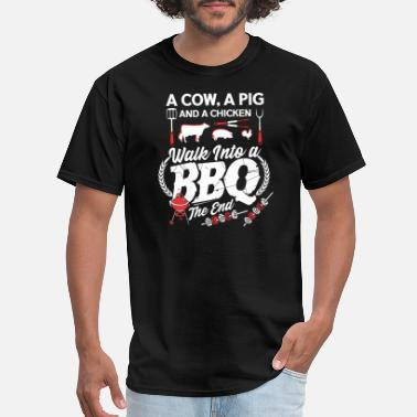 Funny Barbecue BBQ Joke Grill Master Chef Gift - Men's T-Shirt