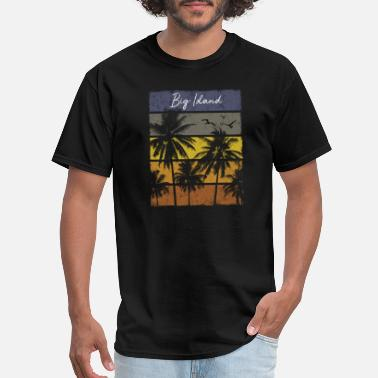 Big Island Retro Big Island Beach Print Vacation Souvenir - Men's T-Shirt