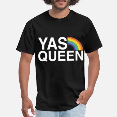 8bf593542 Queen yas queen funny lgbt gay pride flag saying gay tsh - Men'. Men's T -Shirt
