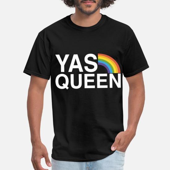 de560c30 yas queen funny lgbt gay pride flag saying gay tsh Men's T-Shirt ...