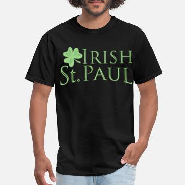Minneapolis irish proud saint paul green shamrock leprechaun  - Men's T-Shirt
