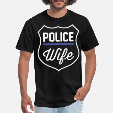 K9 Cop Wife Threadrock Women s Police Wife Officer Pride Prote - Men's T-Shirt