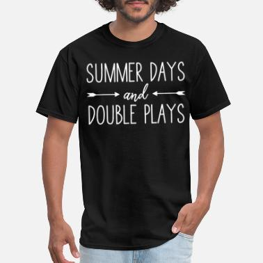 I Play Softball baseball softball summer days and double plays bas - Men's T-Shirt