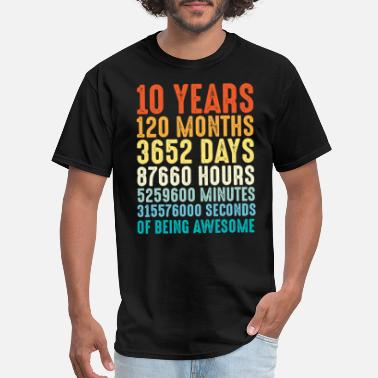 Number 10 Years Old Birthday Gift - Men's T-Shirt