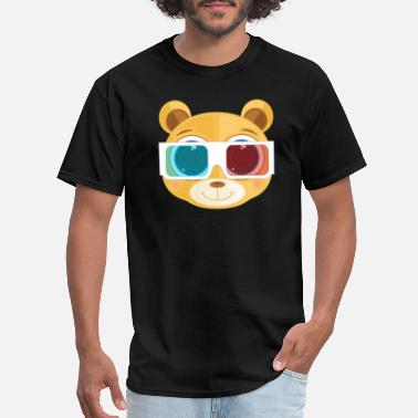 Goggles Teddy bear wearing goggle - Men's T-Shirt