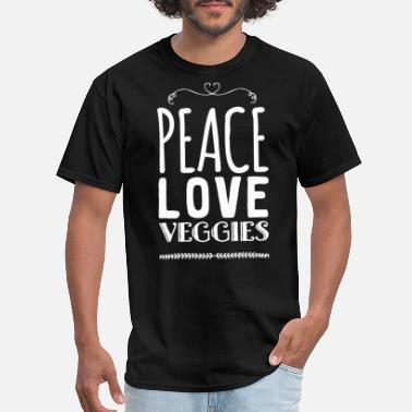 Veggie Vegetarian - Peace love veggies - Men's T-Shirt