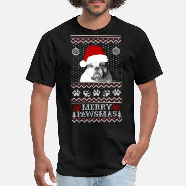 Peace Love Cure Paws dog - Ugly Christmas Sweater - Men's T-Shirt