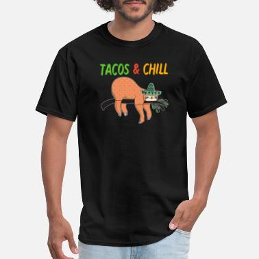 Sloth Tacos and Chill - Men's T-Shirt