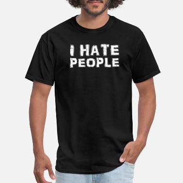 Womens I Hate People Funny T-Shirt Antisocial People ladies V-Neck T Shirt top
