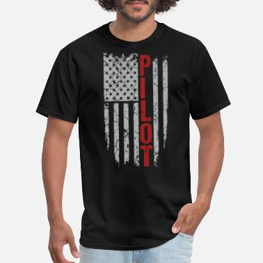 Helicopter Pilot - United States of American flag - Men's T-Shirt