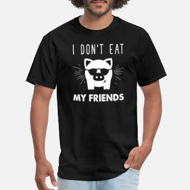 Satanic Bodybuilder Vegan - I don't eat my friends vegan I love pigs - Men's T-Shirt
