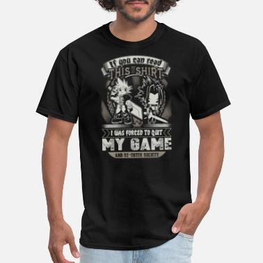 4xl Games Game - I was forced to quit and re-enter society - Men's T-Shirt