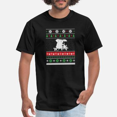 Babar Elephant with Santa Claus - Christmas gift - Men's T-Shirt