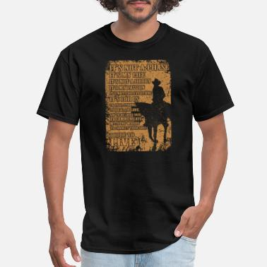 Jet Black Cowboy Bebop Cowboy - I ride to live - Men's T-Shirt