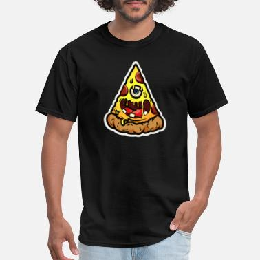 One Eyed Harmful Pizza, Pizza Monster, Monster of a Slice - Men's T-Shirt