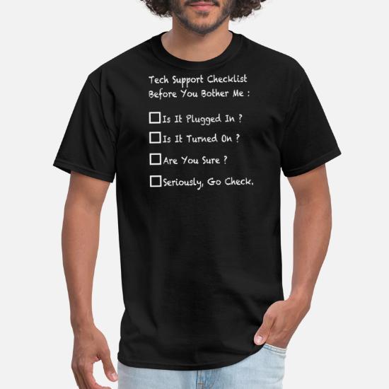 21e464cb6c Funny tech support helpdesk-tech support Men's T-Shirt | Spreadshirt