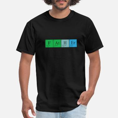 Alchemist Jokes Chemist father - Fluorine Astatine Hydrogen Erbi - Men's T-Shirt