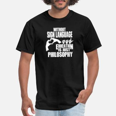 Batman Jesus Freak Sign language - Education is just philosophy - Men's T-Shirt