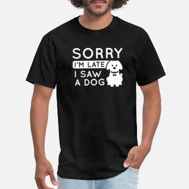 Person I Saw A Dog - Men's T-Shirt