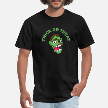 Tricky Symbols Trick Or Treat Zombies - Men's T-Shirt