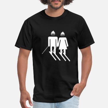 Ice Freestyle skier couple Winter Skiing gift idea freestyle - Men's T-Shirt
