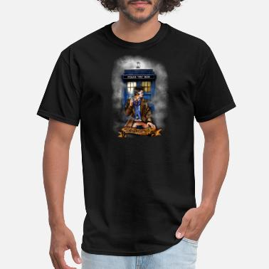 Adobe Photoshop Doctor and Blue Phone Box - Men's T-Shirt