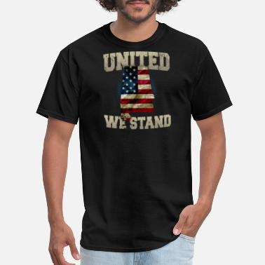 Vietnam Vintage Alabama United We Stand Proud Strong Awesome Design Gift US Flag - Men's T-Shirt