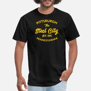 Pittsburgh Funny Pittsburgh - pittsburgh pa. the steel city - Men's T-Shirt