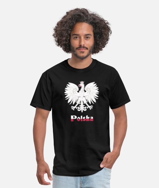 Dyngus Day T-Shirts - Polish eagle polska crest poland dyngus day - Men's T-Shirt black