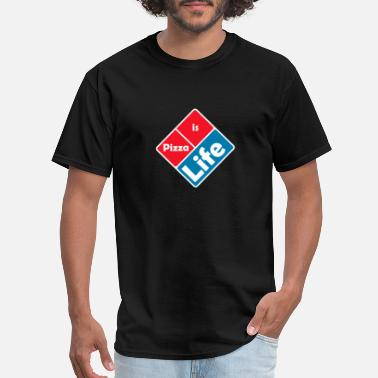 Pizza domino life - Men's T-Shirt