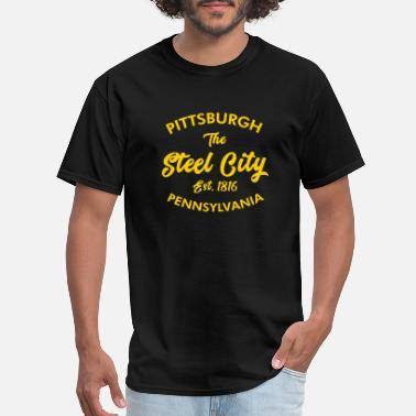 Pittsburgh Pittsburgh - pittsburgh pa. the steel city - Men's T-Shirt