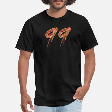 Number 99 Number 99 Count Art - Men's T-Shirt