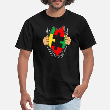 Spectrum Superhero Autistic Support Spectrum shirt - Men's T-Shirt