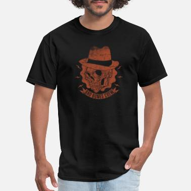 Rockabilly Style Style rockabilly skull hat - Men's T-Shirt
