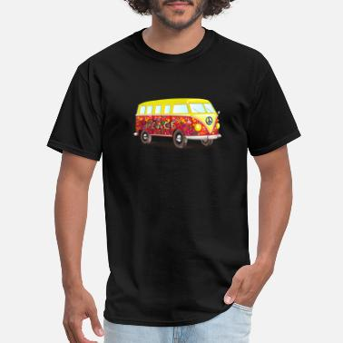 Hippie-bus The Flower Power Hippie Bus - Men's T-Shirt