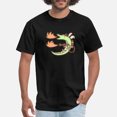 Flamethrower Dragon With A Flamethrower Cute Amazing - Men's T-Shirt