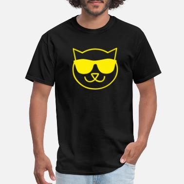 Digital Design Cool Sayings Cat cool - Men's T-Shirt