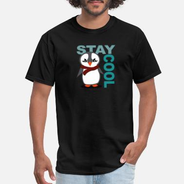 Kid In Christmas Event Penguin: stay cool - Men's T-Shirt