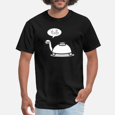 Mine Mine turtle stops by to say hello - Men's T-Shirt