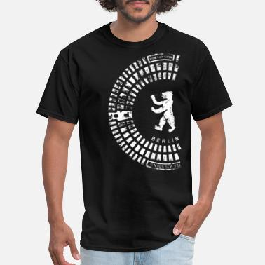 Berlin Berlin Emblem / Manhole Cover Print / white half - Men's T-Shirt