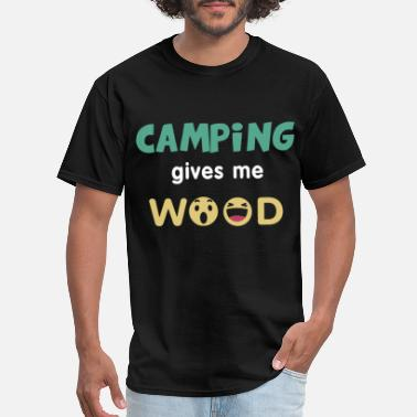 camping gives me wook fish t shirts - Men's T-Shirt