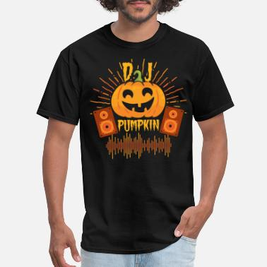 Dj Head Pumpkin head DJ - Men's T-Shirt