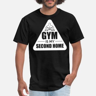 Shakes Gym Is My Second Home. Motivation. Pumping. - Men's T-Shirt