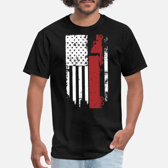 Trendy Trucking Flag D Men's T-Shirt