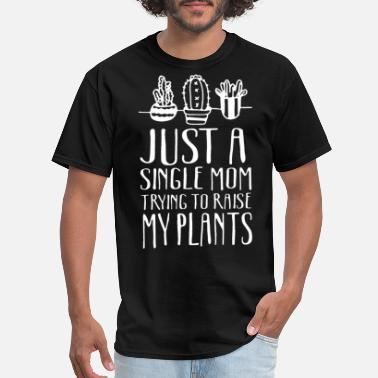 Bitch Computer just a single mom trying to raise my plants daught - Men's T-Shirt